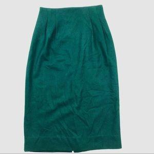 Vintage 100% Wool Pencil Skirt
